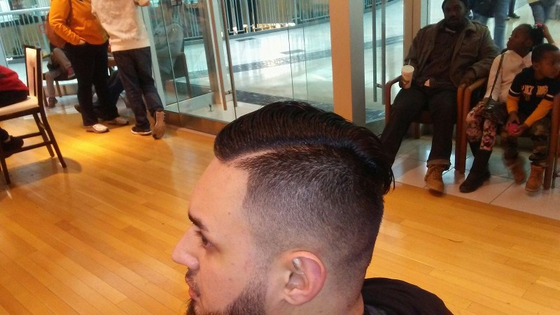 Men's Fade with Line