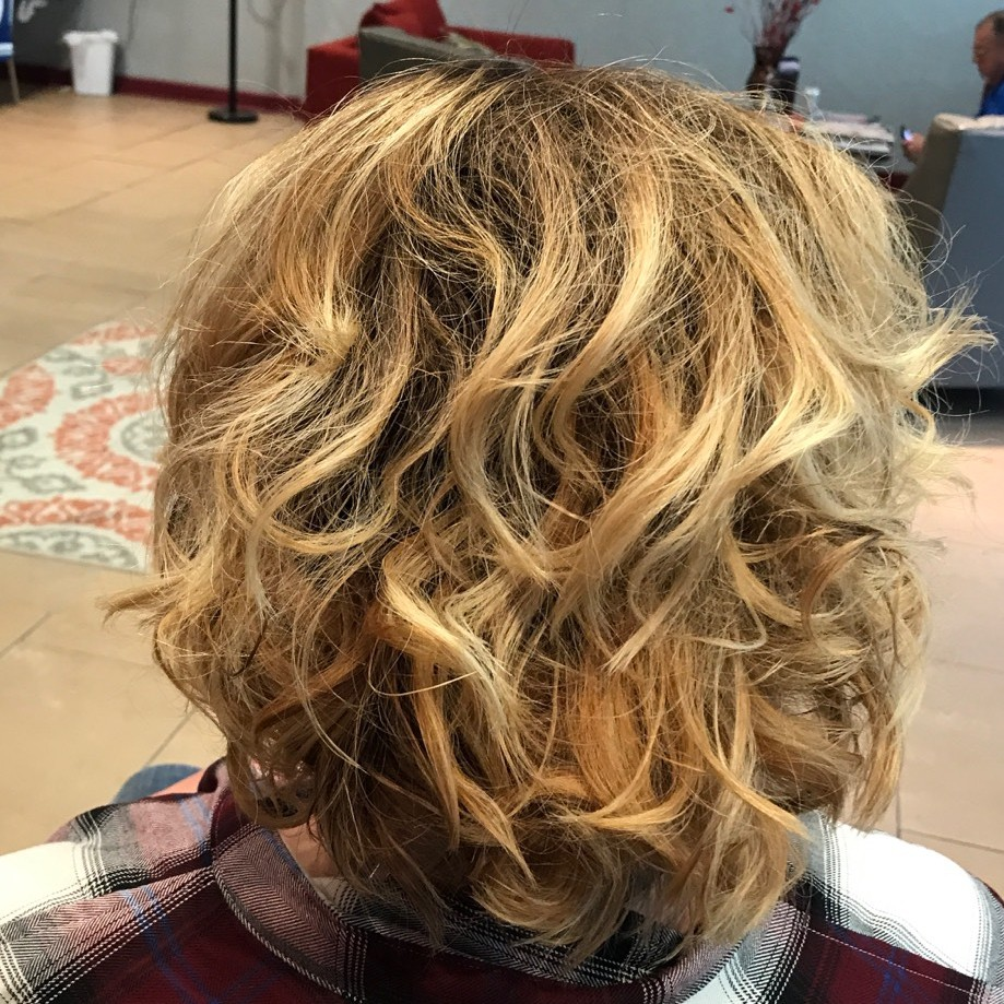 Blond Styled Hair Back